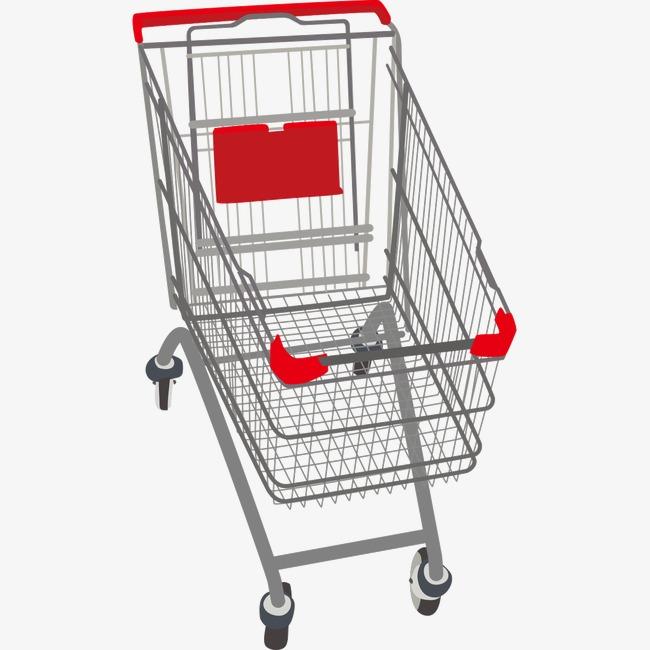 超市购物车【高清装饰元素png素材】-90设计