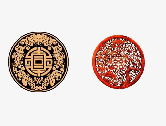 喜字  喜 圆形  喜庆             此素材是90设计网官方设计出品,均