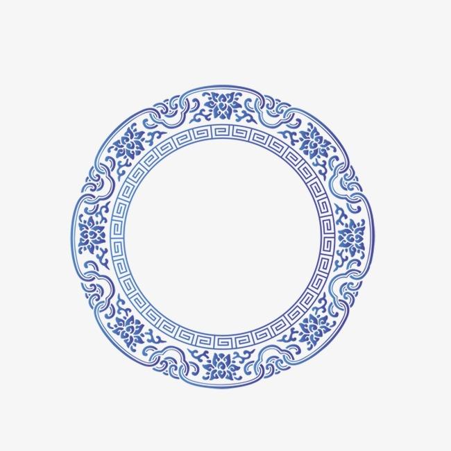 设计元素 背景素材 其他 > 青花瓷圆框  [版权图片] 找相似下一张 >