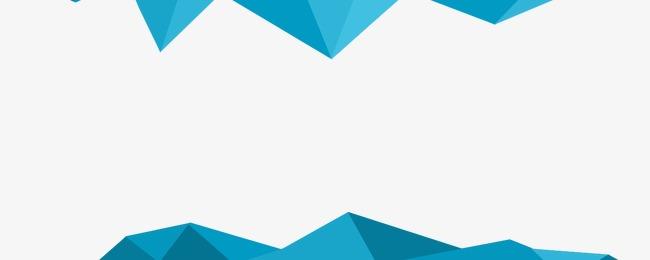 蓝色几何渐变立体边框