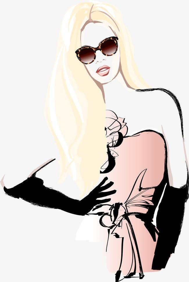 巴黎手繪時尚美女