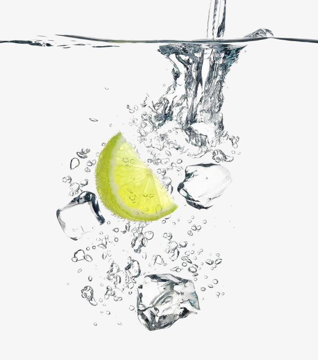 柠檬片丢入水中创意广告