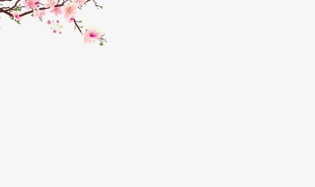 手绘桃花图片彩铅边框