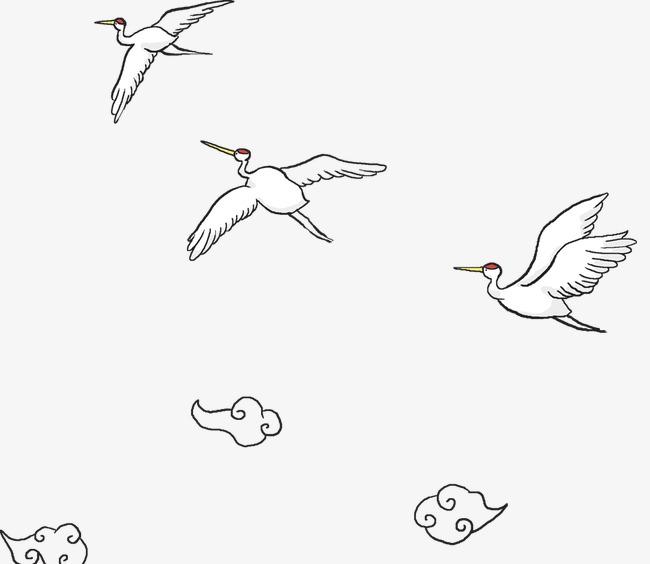 白鹤少儿简笔画