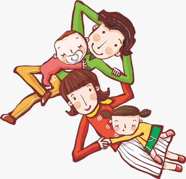 矢量  手绘  卡通  可爱  家人   矢量 ai 手绘 卡通 可爱 家人