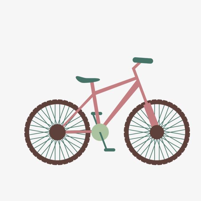 卡通手绘自行车