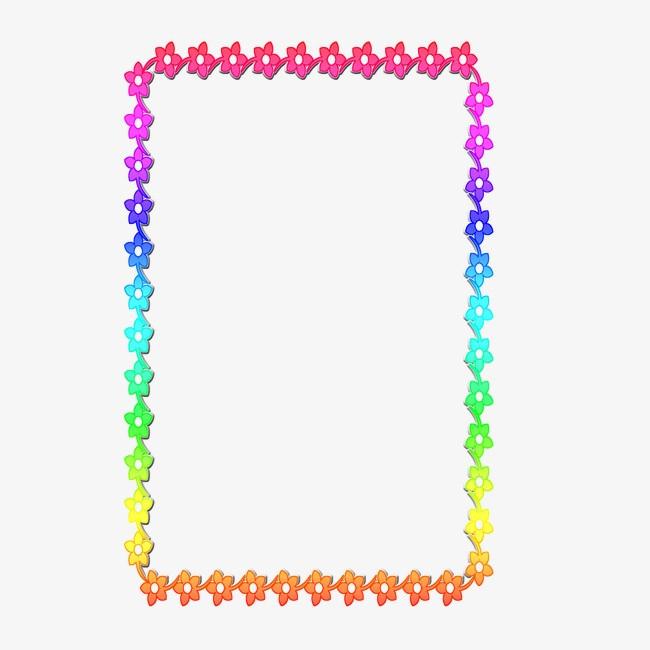 彩色图框png素材-90设计图片