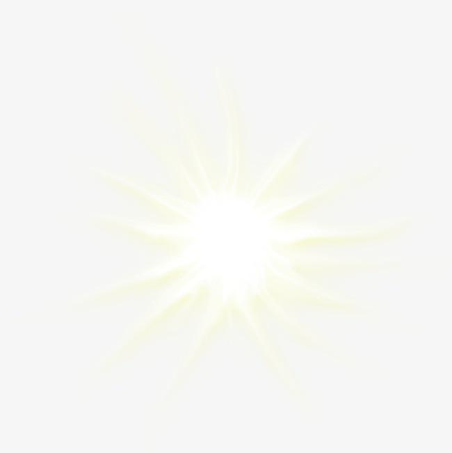 白色发光 炫光装饰【高清效果元素png素材】-90设计