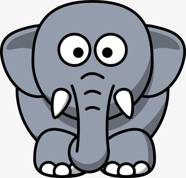 简笔画 大象 可爱 动物             此素材是90设计网官方设计出品