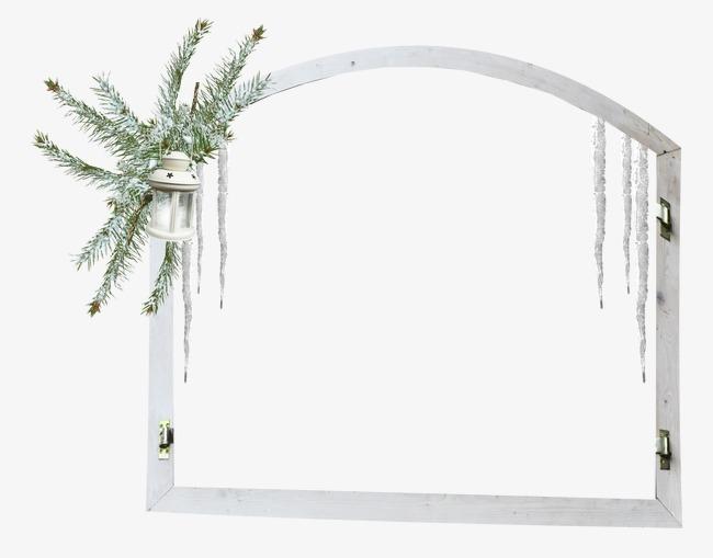 装饰边框 窗户 白色