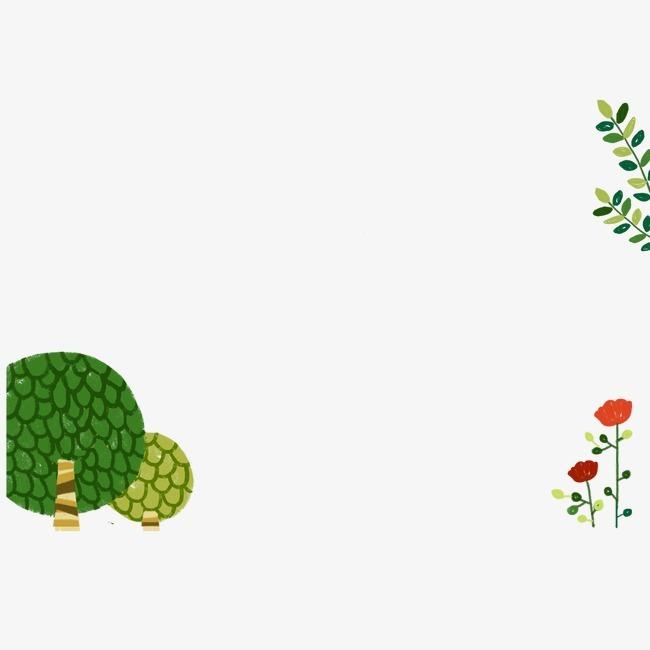 韩国可爱卡通手绘树叶【高清装饰元素png素材】-90设计
