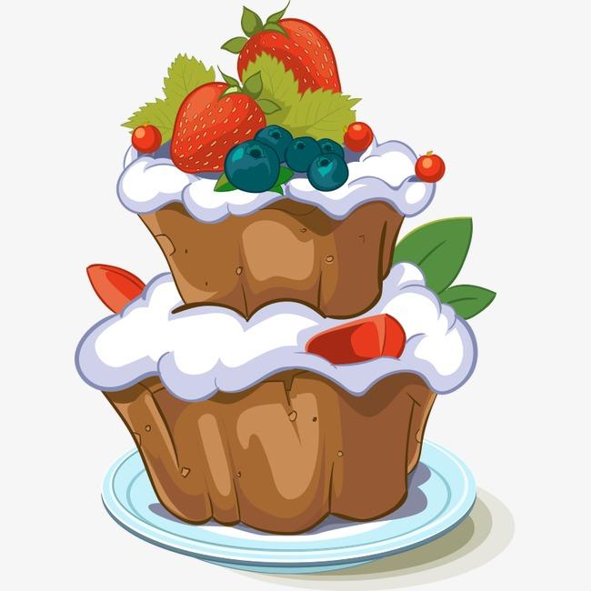食物手绘食物 美食 卡通食物 插画 蛋糕