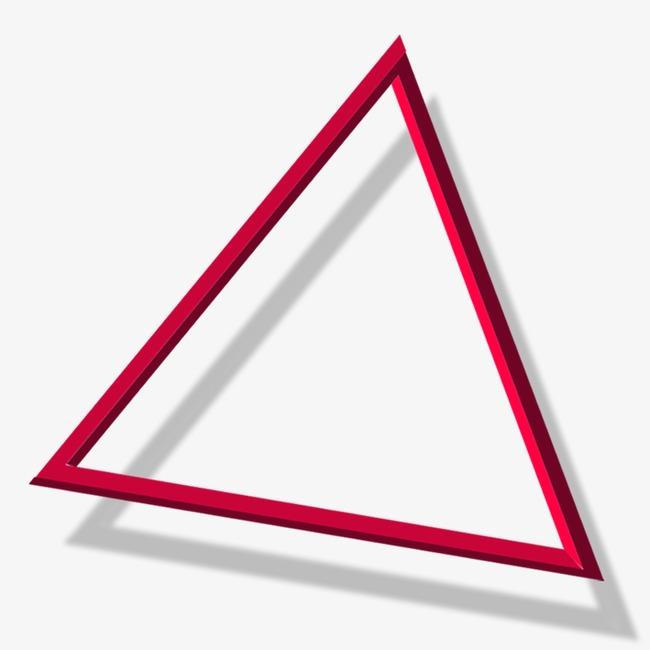 三角形立体_三角形边框png素材-90设计