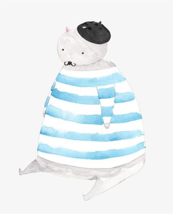 手绘卡通熊手绘水彩动物熊可爱小清新-手绘卡通熊素材图片免费下载