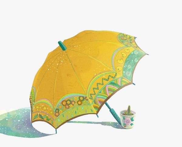 小清新 唯美 手绘 雨伞