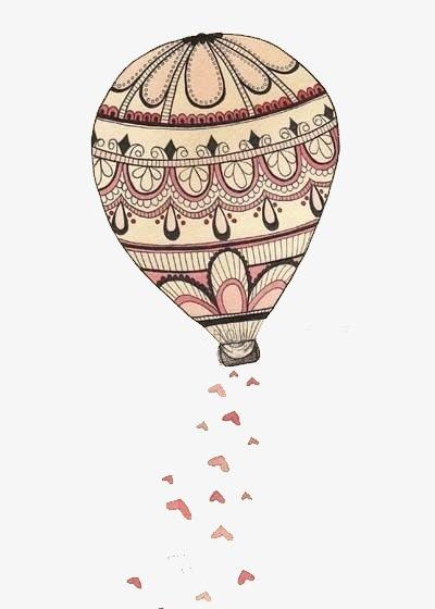 唯美 小清新 手绘 热气球