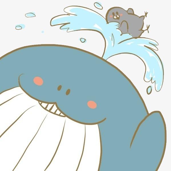 手绘 唯美 小清新 鲨鱼