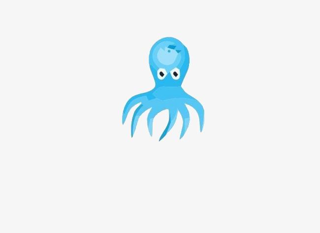 姑娘八爪鱼卡通动物可爱母指章鱼和青蛙王子图片