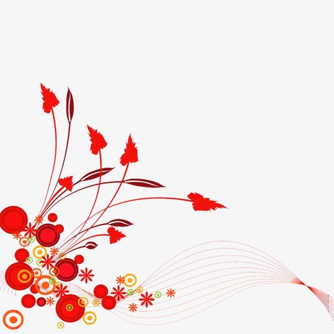 花边 手绘 花丛 边框 底纹