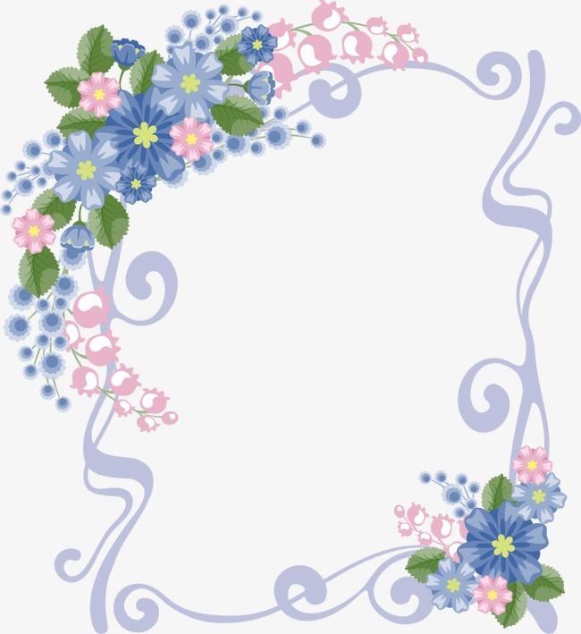 花边 手绘 花丛 边框 底纹素材图片免费下载 高清png 千库网 图片编号1915735图片