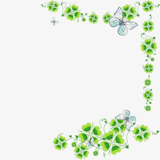 手绘背景_花边 手绘 花丛 边框 底纹png素材-90设计
