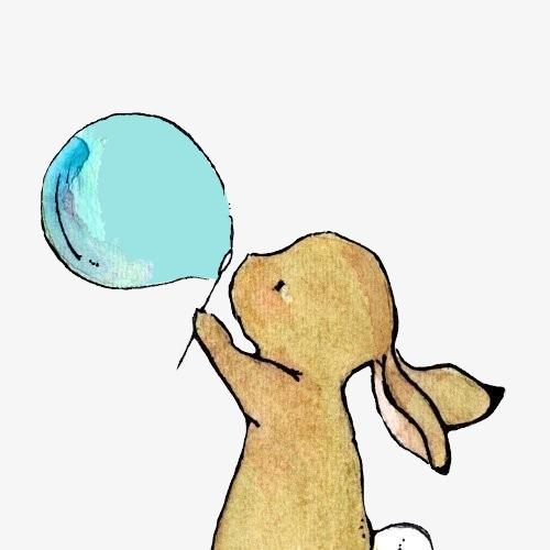 卡通手绘兔子