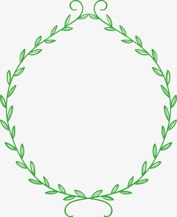 边框 花边 底纹 绿叶 藤蔓
