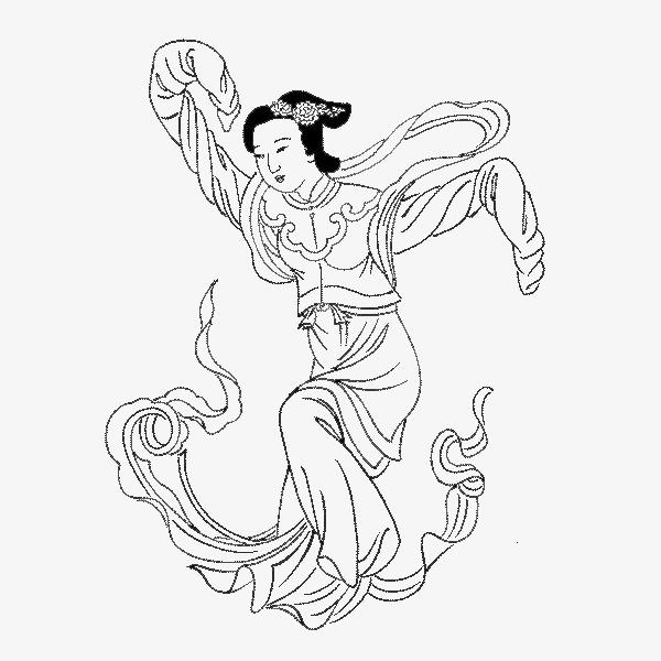 卡通人物_古代人物手绘图png素材-90设计