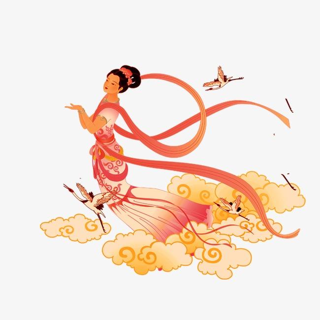 嫦娥 美女 卡通 中秋 中秋节中秋元素嫦娥 美女 卡通 中秋 中秋节图片