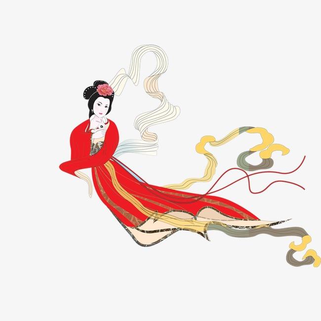 嫦娥 中秋节中秋元素 卡通 人物嫦娥 中秋节 中秋元素 卡通 人物png图片