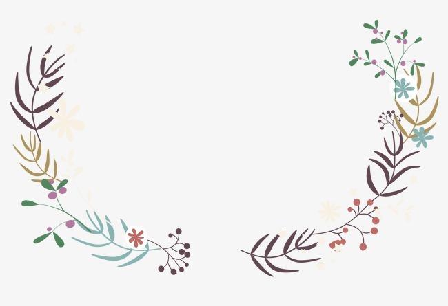 小清新可爱卡通手绘边框花边