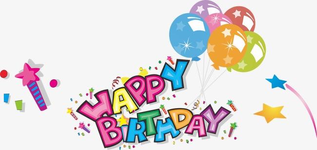 生日快乐英文字母图片