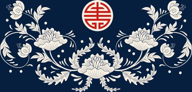 中国风窗边素材花纹