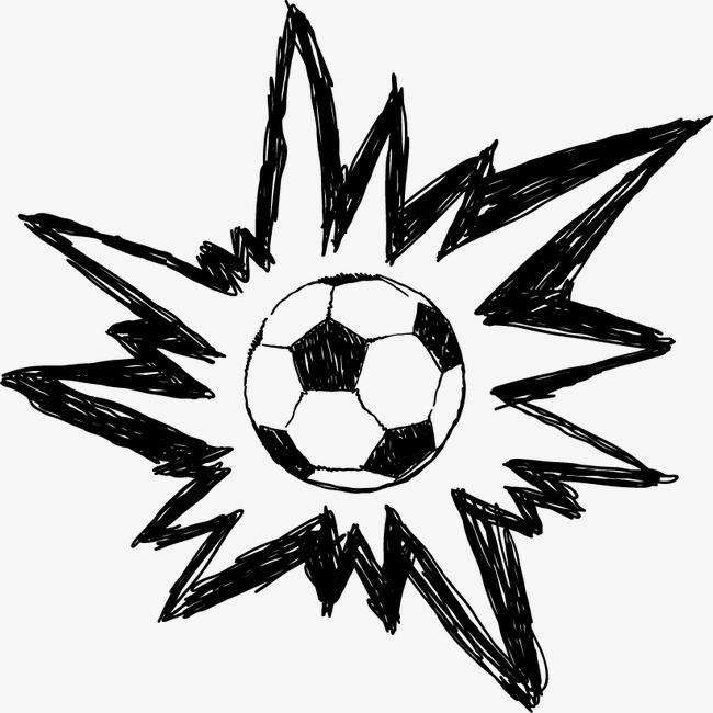 卡通涂鸦足球
