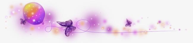 紫色蝴蝶漂浮物png素材-90设计