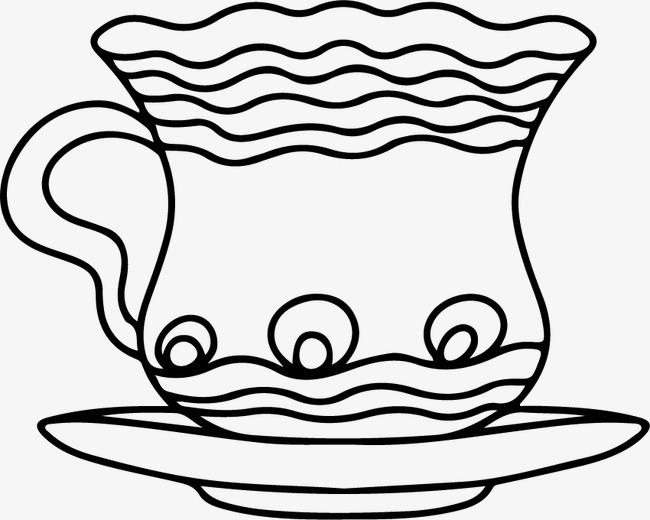 平面设计 装饰图案 手绘 杯子 咖啡杯 茶杯 素描 矢量图