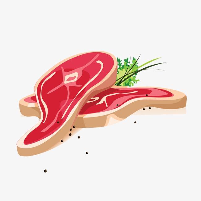 卡通手绘五花肉