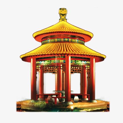 中国风中国元素 故宫 亭             此素材是90设计网官方设计出品图片