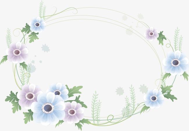 手绘鲜花边框