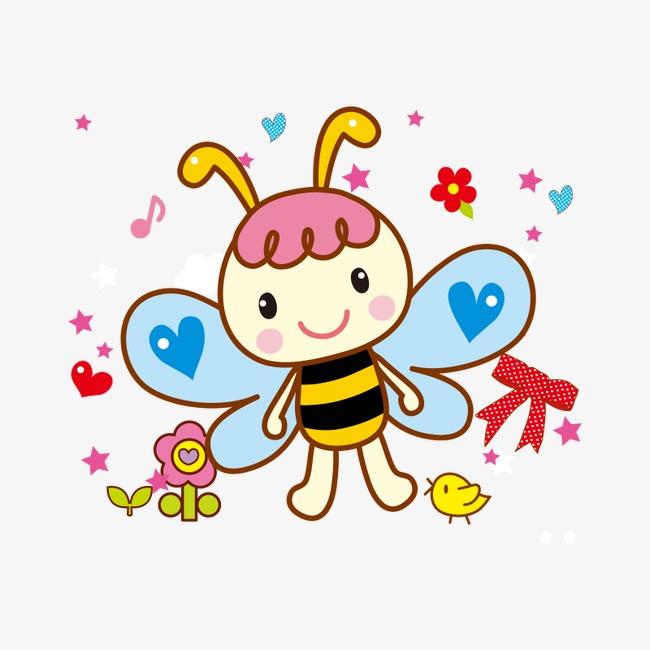 点击右侧免费下载按钮可进行 蜜蜂 卡通png图片素材高速下载.图片