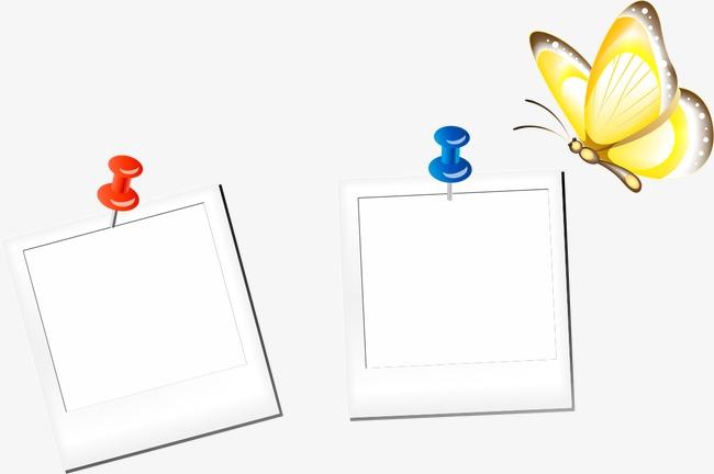 手绘蝴蝶边框
