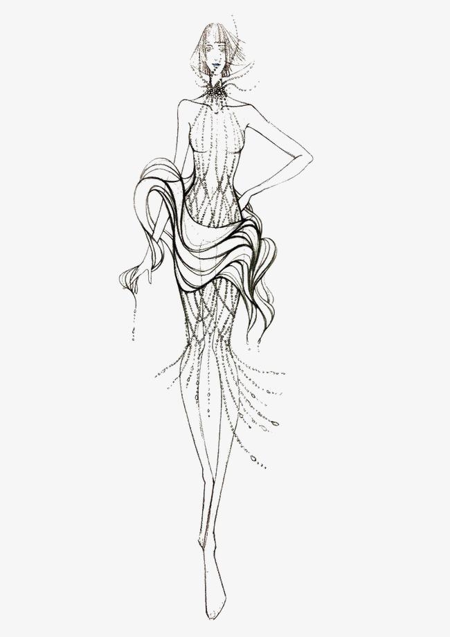 服装模特_服装模特png素材-90设计
