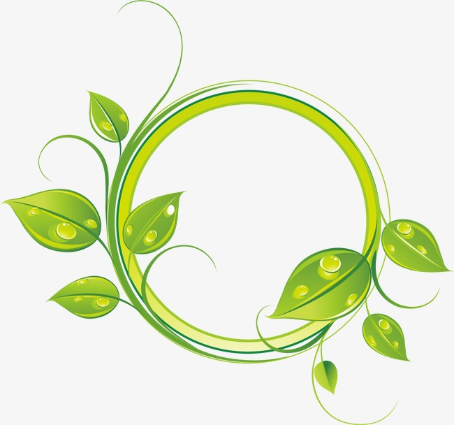 设计元素 背景素材 其他 > 矢量绿叶边框