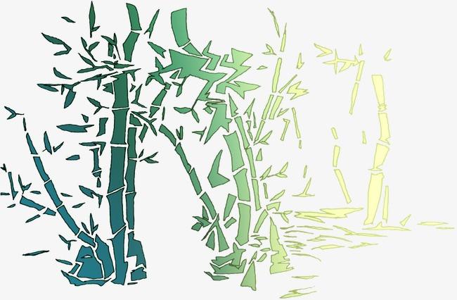 竹子图片简笔画手绘彩色