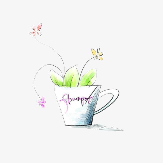 手绘花盆素材图片免费下载_高清装饰图案png_千库网(图片编号2089338)