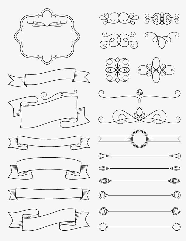 花纹边框和分割线