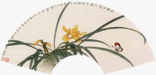 花鸟工笔画扇面 中国古典文化 诗词歌 经典扇面花鸟工笔画扇面 中国