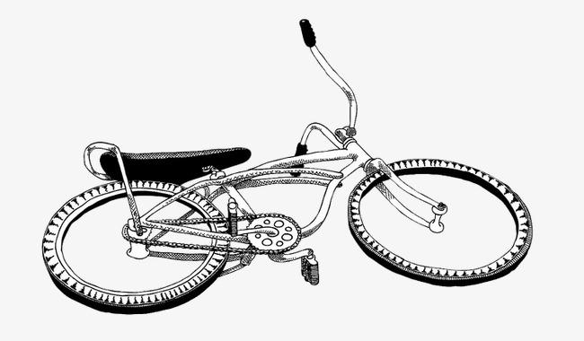 自行车手绘