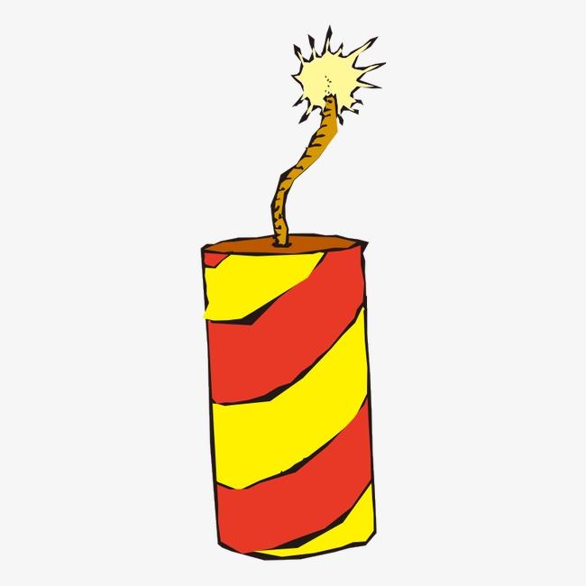 放炮 炮竹 鞭炮 礼花 炮仗 节日 放鞭炮 喜庆 黄色 红色 卡通免扣图片