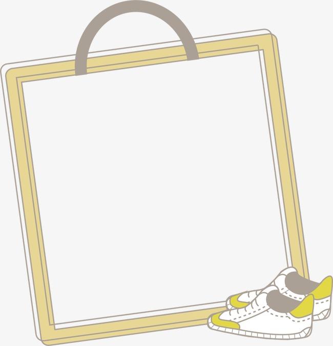 手绘运动鞋边框
